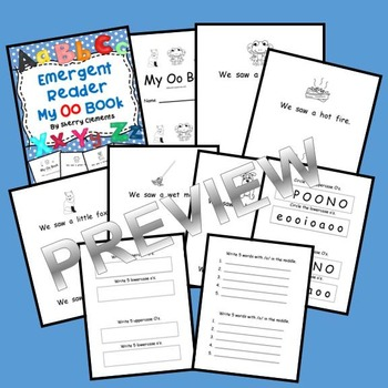 Letter Oo Emergent Reader (sight words: we, saw, a)