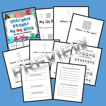 Emergent Reader: My Qq Book (Sight words: where, is the)
