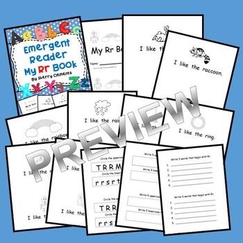 Letter Rr Emergent Reader Sight Words (I, like, the)