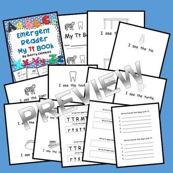 Letter Tt Emergent Reader Sight Words (I, see, the)