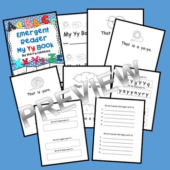 Letter Yy Emergent Reader (sight words: that, is, a)
