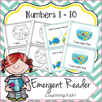 Emergent Reader Numbers 1 - 10, Counting Fish!