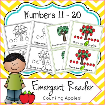 Emergent Reader Numbers 11 - 20, Counting Apples!