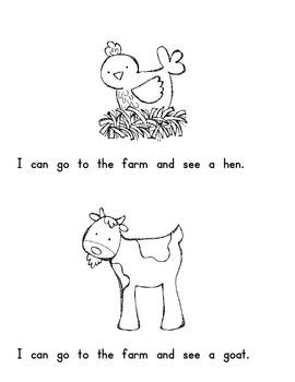 Emergent Reader - On the Farm