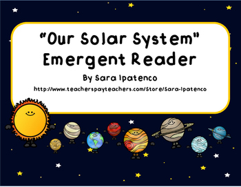 "Emergent Easy Reader Book: ""Our Solar System"""