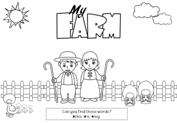 Emergent Reader Pack - Class Big Book and Reader - My Farm Theme