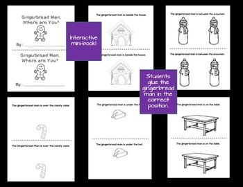 Emergent Reader Pack - The Snowman! and Gingerbread Man, Where are you? ESL