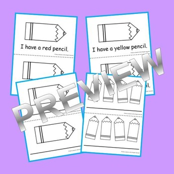 Emergent Reader Pencils: Sight Words (I have a) and Color Words