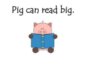 """Emergent Reader """"Presley the Pig"""" -ig Words and Sight Words by GBK"""