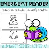 Emergent Reader Printable Mini Book Alphabet Letter V