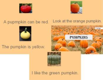 Emergent Reader- Pumpkins