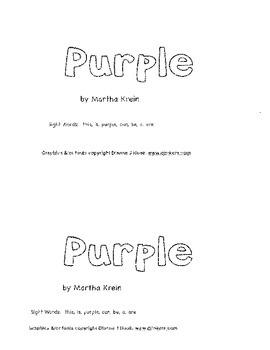 Emergent  Reader: Purple