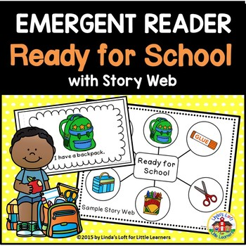 Back to School Emergent Reader: Ready for School
