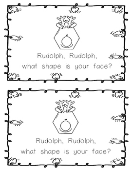 Emergent Reader: Rudolph. Rudolph, What Shape is Your Face?