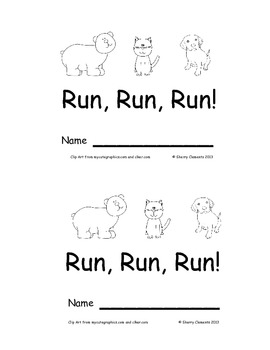 Animal Emergent Reader Run Run Run