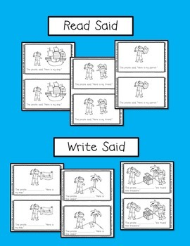 Pirate Emergent Reader {Sight Word:  Said}