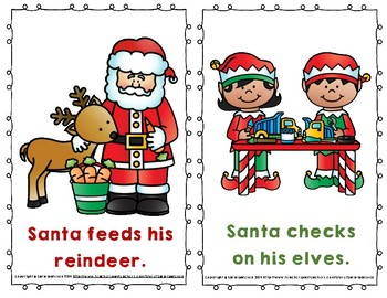 "Emergent Easy Reader: ""Santa Gets Ready for Christmas"""