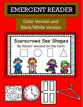 Emergent Reader - Scarecrows See Shapes