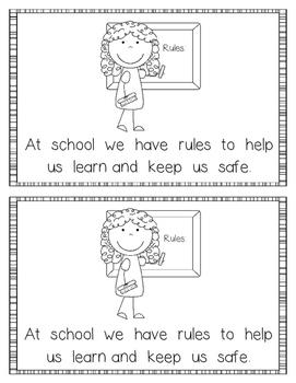 Emergent Reader:  School Rules