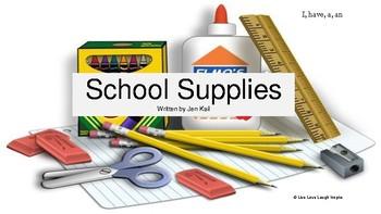 Emergent Reader- School Supplies