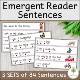 84 Emergent Reader Sentences with Tracking Dots
