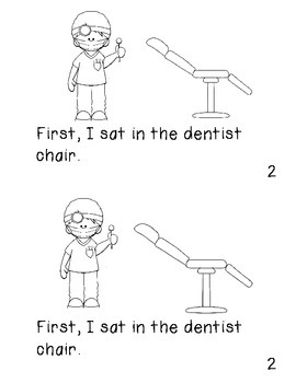 """Emergent Reader """"I Went to the Dentist.""""  An Interactive Sequential Story"""
