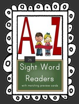 Alphabet Emergent Reader Set {Sight Word & Phonics Books A-Z}