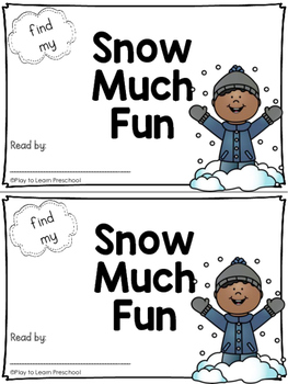 Sight Word Book - Snow