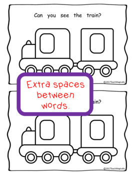 Emergent Reader Sight Word Book for Guided Reading Vehicles