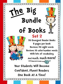 Emergent Reader Sight Word Books ~ THE BIG BUNDLE OF BOOKS ~ Set 2