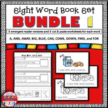 Emergent Reader Sight Word Bundle 1-10