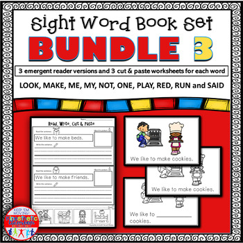 Emergent Reader Sight Word Book Bundle 21-30