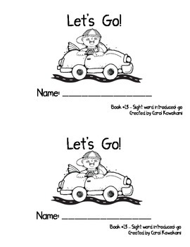 """Sight Word Book for the Sight Word """"go""""; Sight Word Book #13"""