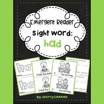 Sight Word Reader HAD