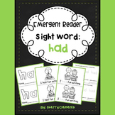 Sight Word Fluency Reader HAD