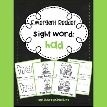 Sight Word Reader: had