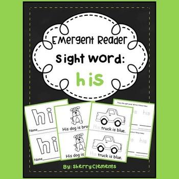 Sight Word Reader HIS