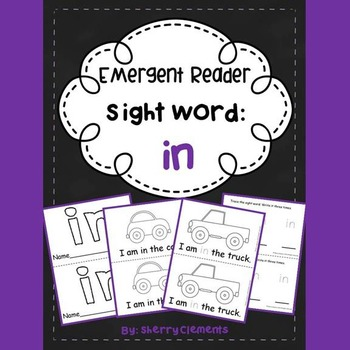 Sight Word Reader: in
