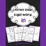 Sight Word Fluency Reader IN