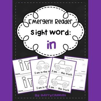 Sight Word Reader: in