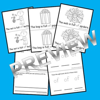Sight Word Reader: of