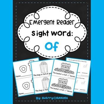 Sight Word Fluency Reader OF