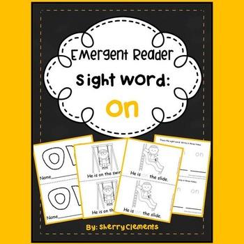 Sight Word Reader: on