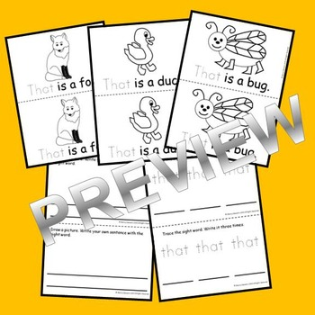 Sight Word Reader: that