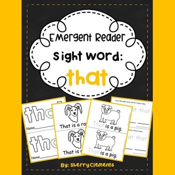 Sight Word Reader THAT
