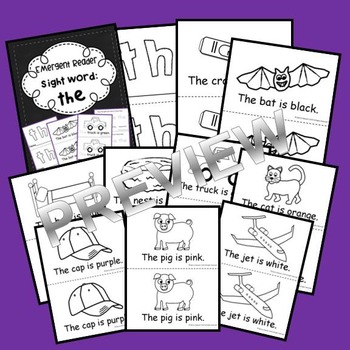 Sight Word Reader: the