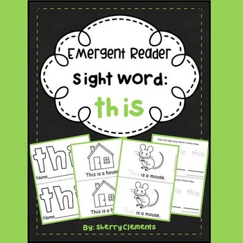Sight Word Reader: this