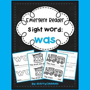 Sight Word Fluency Reader WAS