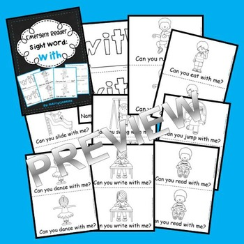 Sight Word Fluency Reader WITH