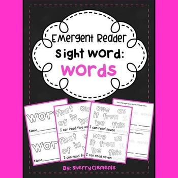 Sight Word Reader WORDS